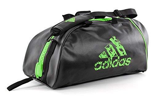 adidas Martial Arts Bag, Judo, Karate, TKD, MMA, Boxing Gear Bag (Green, Large)