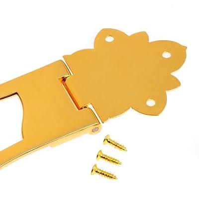 1pc BG-6002GD Hollow Body Archtop Guitar Bridge Tailpiece Gold
