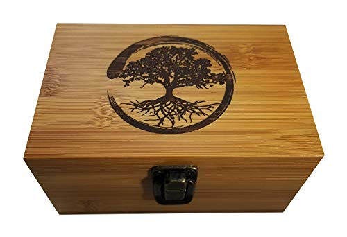 Zenfy Wooden Bamboo Herb Stash and Jewelry Multipurpose Box