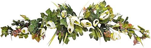 V-Max Floral Decor 36 inches Tulip Swag for Wedding Party Home Garden, Wedding Arch Garden Wall Decoration, Weddings, Cream ()