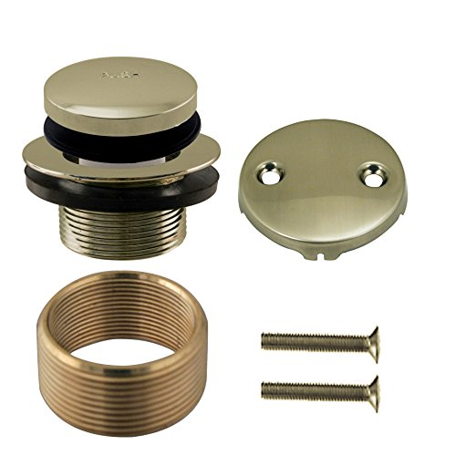 Westbrass Tip Toe Universal Tub Trim with Two-Hole Faceplate, Antique Brass, D93K-06