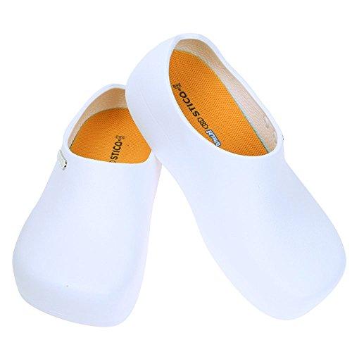 STICO Chef Kitchen Slip Resistant Safety Men Shoes, White US 10(280mm) by STICO/FIOR