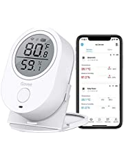 Temperature Humidity Monitor, Govee WiFi Digital Indoor Hygrometer Thermometer, Wireless Temp Humidity Sensor Humidity Gauge with Alerts for Home Garage Wine Cellar Cigar Humidor[Not Support 5G WiFi]