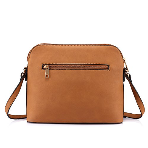 Contrast in Bag Stylish for Shoulder Brown Design Bags Crossbody Women Purses qwaw0Ix8