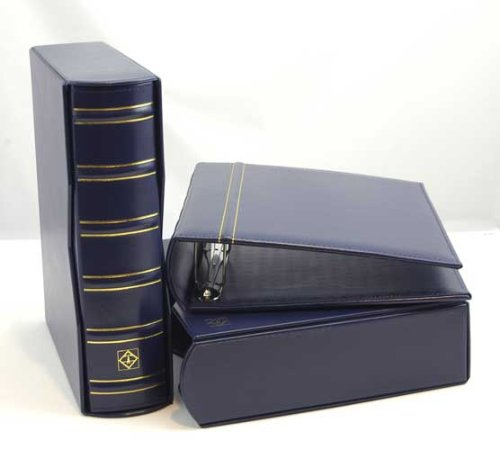 Lighthouse Vario-G Classic Binders with Slipcases, Royal Blue, Set of 2 by Leuchtturm  / Lighthouse