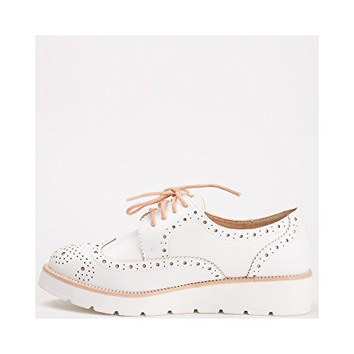 Ideal Shoes, Damen Schnürhalbschuhe Rose