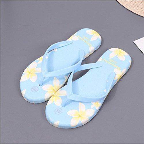 Vovotrade® Sommer Frauen Sandalen Flip-Flops Sandy Beach Bad Kühler Hausschuhe Schuhe Blau