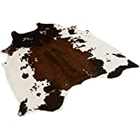 Animal Cow Print Rug,Ehonestbuy 5x4.4 Feet Faux Cowhide Skin Zebra Black on Off White Soft Padding Decoration for Living Room/Tile/Lounge Room/Office