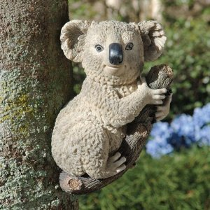 13″ Climbing Koala Bear Animal Sculpture Statue Figurine