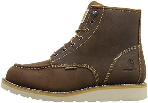 """Carhartt Men's 6"""" Waterproof Toe Moc Wedge Casual Boot Work Shoe accent"""