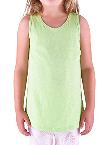 Colored Organics Girls' Organic Toddler Lexi Racer Tank Shirt- Green Slub - 5T
