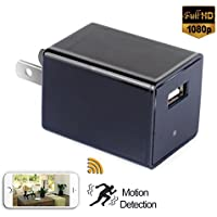 Daretang Wifi Spy Wall Charger Camera,90 Degrees,12Mp,1080p HD Motion Detected USB Wall Charger Adapter Wireless Wifi Hidden Spy Camera / Nanny Cam Video Recorder,Free App Supported