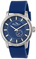 Lucien Piccard Men's LP-12550-03-BU Blue Dial Blue Silicone Automatic Watch by Lucien Piccard