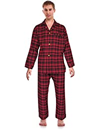 3ac0136c2d Classical Sleepwear Men s 100% Cotton Flannel Pajama Set