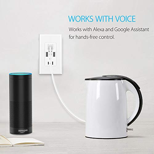 Smart WiFi Wall Outlet,Top & Bottom Outlets are Independently Controllable, Duplex Receptacle Socket , Works with Alexa Dot Echo Plus Google Assistant IFTTT, No Hub Required by Kapok (Image #2)