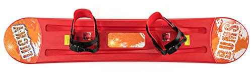 Lucky Bums Kids Plastic Snowboard, Red - 120 cm