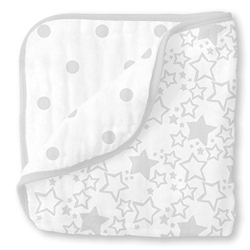 SwaddleDesigns 4 Layer Blanket Sterling Starshine