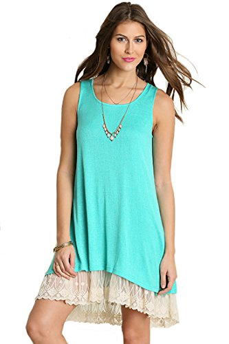 Sheer Knit Tank Dress Lined product image