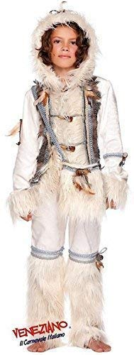 Italian Made Boys Deluxe Eskimo Around the World Carnival Halloween Fancy Dress Costume Outfit 0-12 years (9 years)