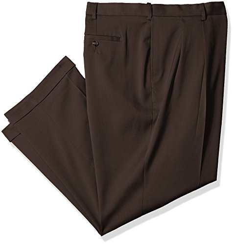 - Savane Men's Big and Tall Pleated Stretch Crosshatch Dress Pant, Artichoke, 44W x 30L