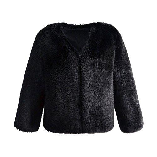 Pelo Piel Negro Ropa Abrigo Abrigo Negro Chaqueta Invierno Abrigo Invierno Mujer Ropa Section Piel Invierno Pelo Caliente Long Pelo para LLQ zUpnqwgfn