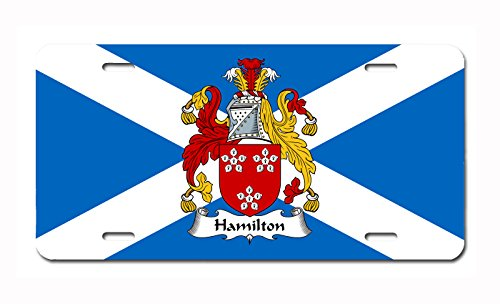 (Carpe Diem Designs Hamilton Coat of Arms/Hamilton Family Crest (Scotland) License/Vanity Plate - Made in The U.S.A.)
