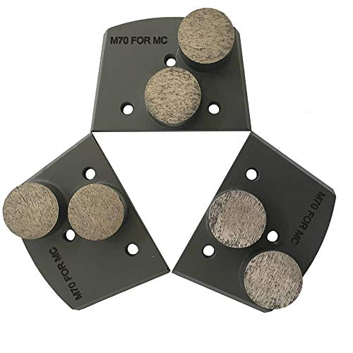 Trapazoidal Grinding Discs for Lavina and Edco Floor Grinders - #30/40 Grit Medium Bond Set of - Grinder Edco Concrete