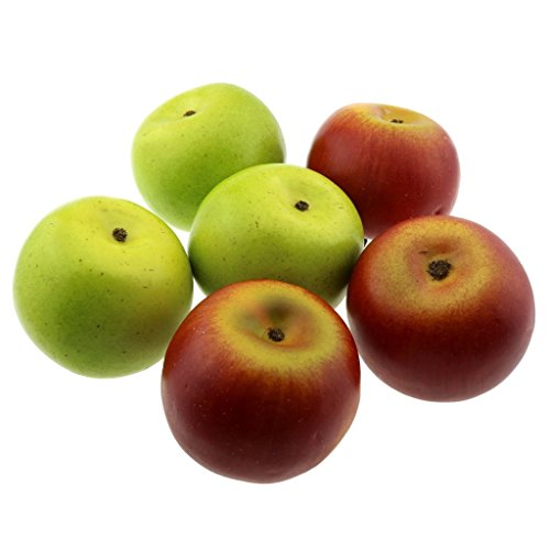 Gresorth 6 Pcs Artificial Green & Red Apple Decoration Fake Fruit Decorative Model by Gresorth