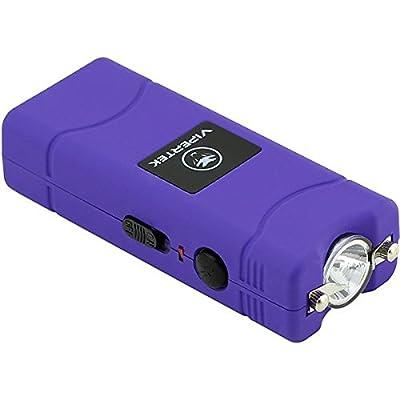 VIPERTEK VTS-881 - 7 Billion Micro Stun Gun - Rechargeable with LED Flashlight, Purple