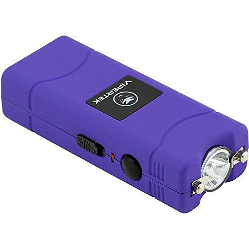 VIPERTEK VTS-881 - 35 Billion Micro Stun Gun - Rechargeable with LED Flashlight, Purple by VIPERTEK