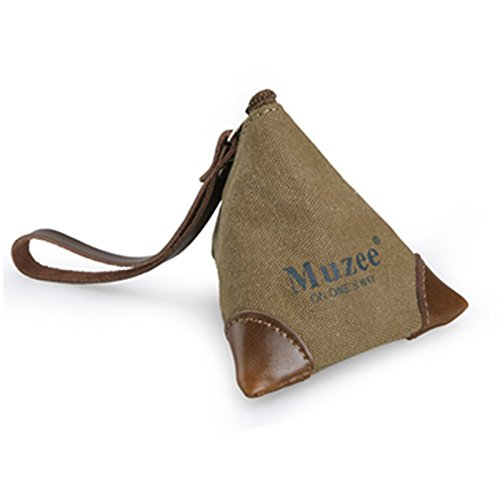 Mens Ladies 1PC Small Canvas Leather Coin Pouch Purse Coin Key Case Coin Wallet