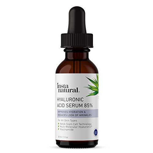 41CeRF32DHL - Hyaluronic Acid 85% Face Serum - Natural Anti Aging Formula for Fine Lines & Wrinkles to Hydrate, Moisturize & Plump Dull, Dry Skin - With Niacinamide & NASA Stem Cell Technology - InstaNatural - 1 oz