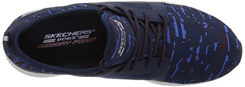 Skechers Cordones para Bobs Azul Dare Blue Navy Zapatillas Double Squad sin Mujer rrYw0gq