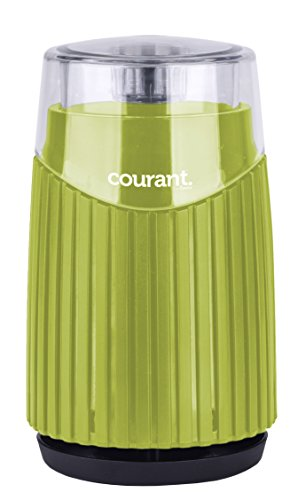 Courant Electric Coffee & spice Grinder, Stainless steel bowl and blades Grinds Coffee Beans & Spices, Green