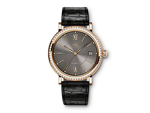 (New IWC Portofino 18k Rose Gold Automatic 37mm Grey Dial Watch IW458108 )