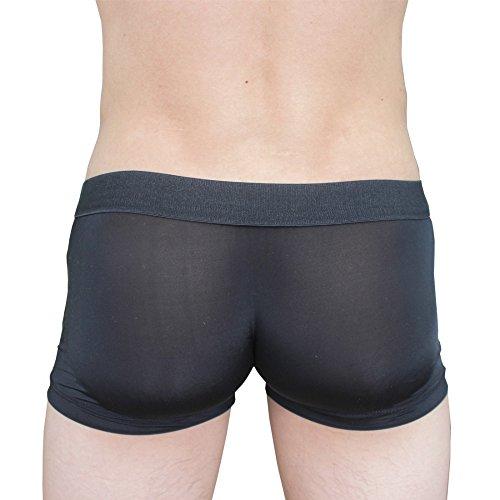 EROSPA® Herren Boxershorts mit Penishülle offen open Sleeve Sexy Brief Underwear Mens Männer One SIze SM (schwarz)