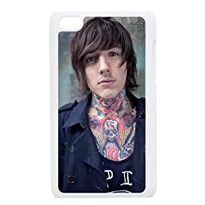 Oliver Sykes Bring Me the Horizon Hard Case Cover Skin for iPod Touch 4 4G 4th Generation- 1 Pack - Black/White - 3- Perfect Gift for Christmas