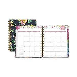 "Day Designer for Blue Sky 2018 Weekly & Monthly Planner, Hardcover, Twin-Wire Binding, 7"" x 9"", Peyton Navy"