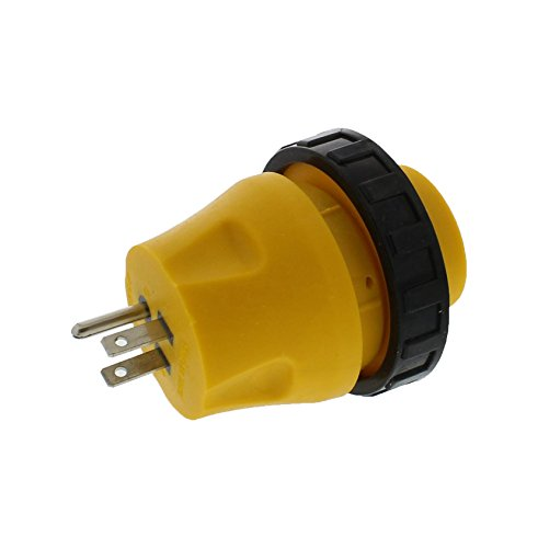 ABN 15A to 30A RV Power Cord - Male to Female 3-Prong 125V AC Camper Generator Cable Adapter Electrical Converter Plug ()