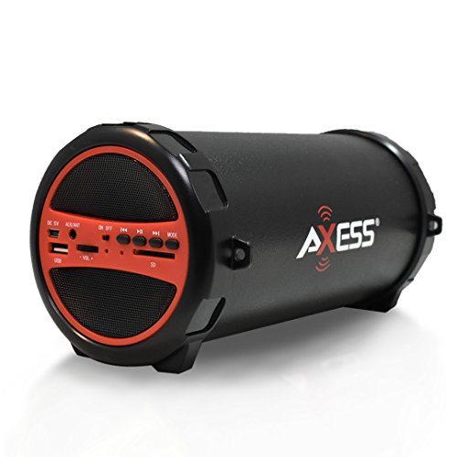Best AXESS SPBT1031 Portable Bluetooth Indoor/Outdoor 2.1 Hi-Fi Cylinder Loud Speaker with Built-In 3
