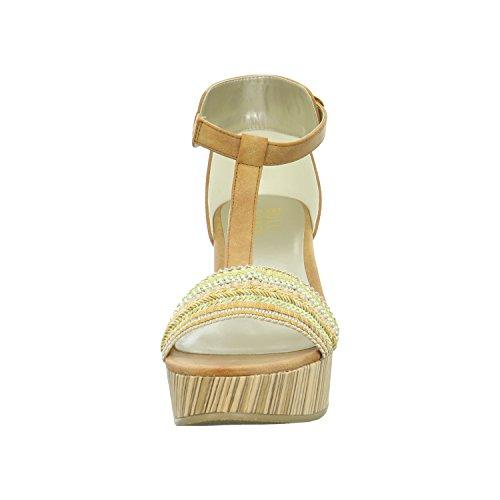 BULLBOXER 144002F2S - Sandalias de vestir de Material Sintético para mujer Talla única talla única marrón