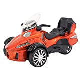 Multifit Kids 1:16 Die Cast Pullback 3 Wheel Motorcycle Toddler Music Lighting ATV Bicycle Gift Car(Orange)
