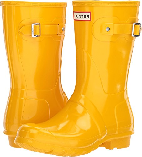Hunter Women's Original Short Gloss Rain Boots Yellow 8 B(M) - Yellow Rain Hunter Boots