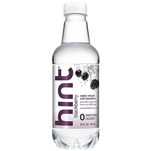 Hint Water Blackberry, (Pack of 12) 16 Ounce Bottles, Pure Water Infused with Blackberry, Zero Sugar, Zero Calories, Zero Sweeteners, Zero Preservatives, Zero Artificial Flavors by Hint
