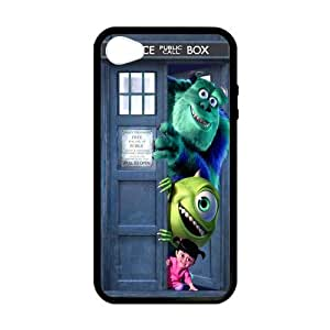 Doctor Who Tardis Monsters Inc iPhone 4/4S Best Protective Hard Durable TPU Silicone Rubber Back Cover Case XXS-3683 wangjiang maoyi