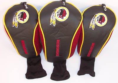 NFL Washington Redskins 3 Pack Mesh Longneck Headcover Set, Outdoor Stuffs