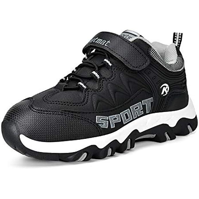 MARSVOVO Boys Girls Hiking Shoes Waterproof Kids Winter Boots Anti-Slip Outdoor Running Shoes