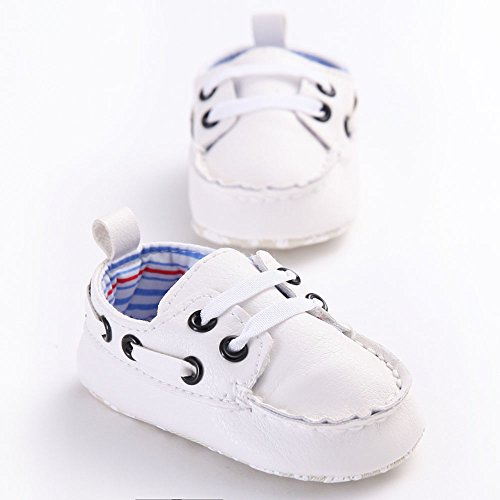 waylongplus Prewalker infantil antideslizante zapatos de suave, piel sintética de bebé Zapatillas Talla:13 (12-18 Months)
