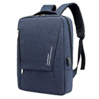Hometom Bag & Shoes Travel Backpack Business Laptop Backpack Waterproof Anti-Theft Backpack with USB Charging Port (Dark Blue)