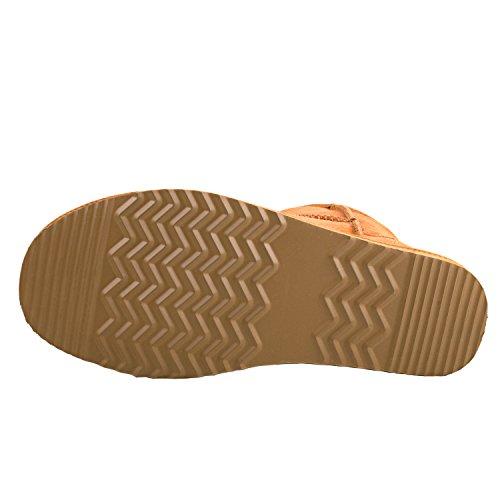 Da5854 Chestnut Leather Snow Boots Women's Shenduo Ankle Classic x7TCFw0Ynq